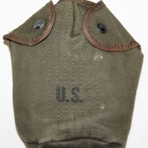 T065. VIETNAM 1968 DATED OD WEB CANTEEN COVER WITH NYLON TRIM
