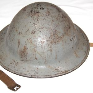 C030. EARLY WWII NAVY GRAY M-1917A1 COMBAT HELMET