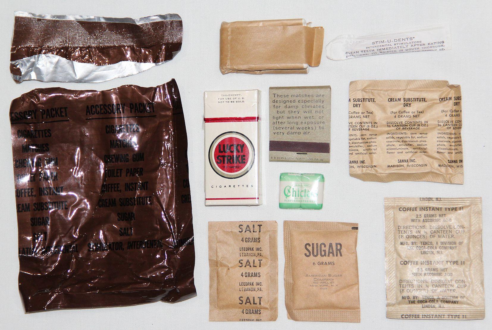 Vietnam C Ration Accessory Pack Creamer Substitute Dry