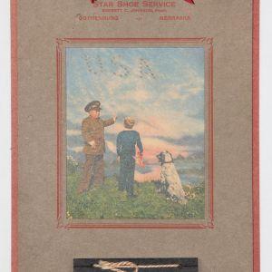 I032. WWII HOMEFRONT PATRIOTIC UNUSED 1944 ADVERTISING CALENDAR