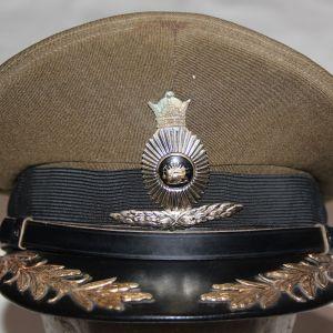 U015. RARE PRE REVOLUTION SHAH ERA IRANIAN ARMY OFFICERS VISOR CAP