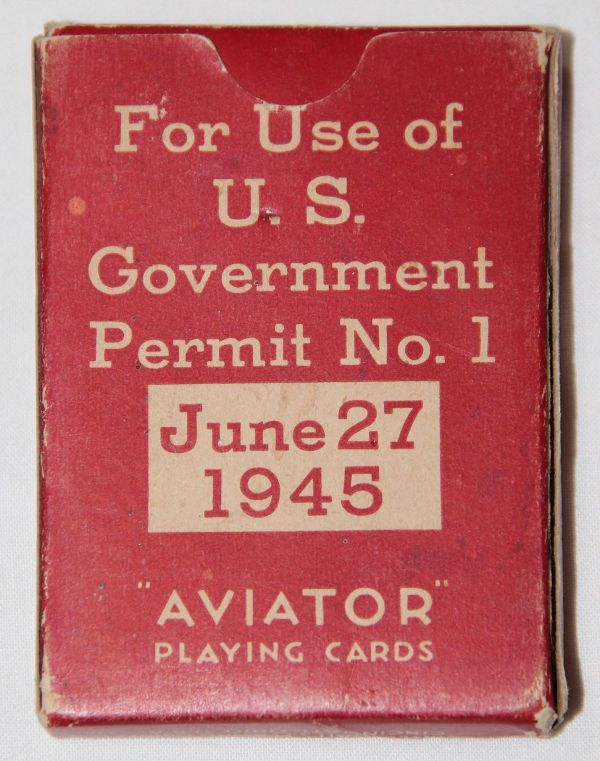 J031. WWII GIFT OF THE AMERICAN RED CROSS DECK OF PLAYING CARDS