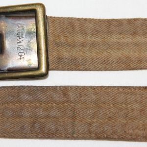 B096. PRE WWI TROUSER BELT WITH FRICTION BUCKLE