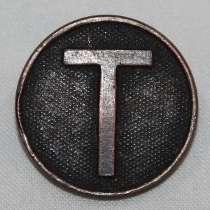 "B103. WWI ""T"" TRAINS ENLISTED UNIFORM COLLAR DISK"