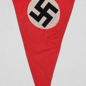 M027. WWII GERMAN NSDAP DOUBLE SIDED PENNANT