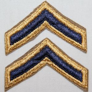 S045. KOREAN WAR COMBAT PRIVATE FIRST CLASS CHEVRONS
