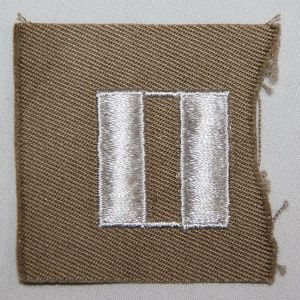 G096. WWII CAPTAIN CLOTH COLLAR INSIGNIA