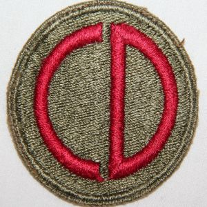 G110. WWII GREENBACK 85TH INFANTRY DIVISION PATCH