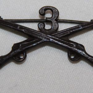 B135. WWI 3RD INFANTRY OFFICERS COLLAR INSIGNIA