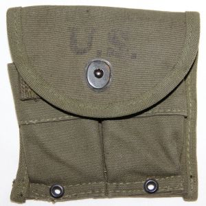 S054. KOREAN WAR 1951 DATED M1 CARBINE AMMO CLIP POUCH