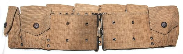 A028. PRE WWI M1903 9 POCKET EAGLE SNAP CARTRIDGE BELT