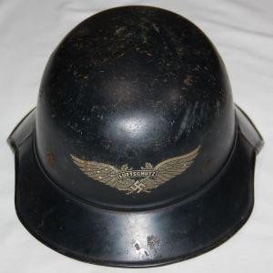 L011. WWII GERMAN 3 PIECE GLADIATOR LUFTSCHUTZ HELMET