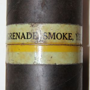 T117. VIETNAM M18 YELLOW SMOKE GRENADE SHIPPING CONTAINER