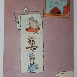 I044. WWII HOME FRONT AXIS TOILET PAPER POSTCARD