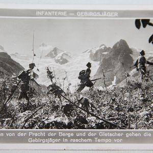 R059. WWII GERMAN MOUNTAIN TROOPS POSTCARD