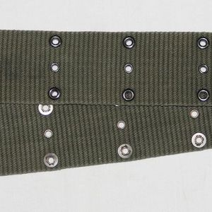 T129. VIETNAM VERTICAL WEAVE PISTOL BELT WITH DAVIS BUCKLE