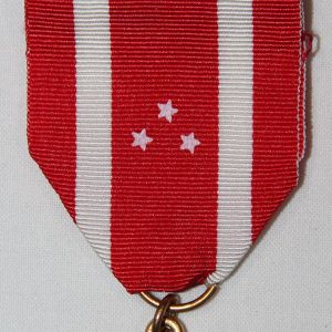 "H065. PHILIPPINE DEFENSE MEDAL BY ""EL ORO"" WITH RIBBON BAR AND LAPEL PIN"