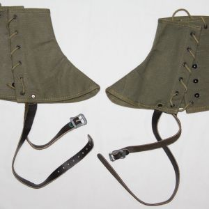 E194. NICE WWII MOUNTAIN TROOP SKI GAITERS