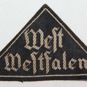 WWII GERMAN BDM WEST WESTFALEN DISTRICT SLEEVE PATCH