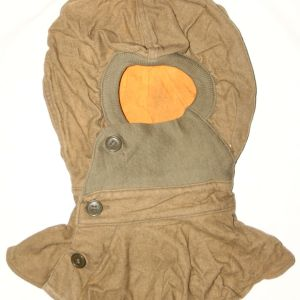 C048. WWII 1942 DATED WOOL PROTECTIVE GAS HOOD