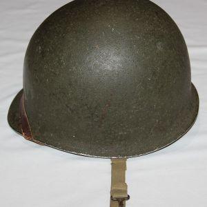 C050. WWII FIXED LOOP M1 HELMET WITH WESTINGHOUSE LINER