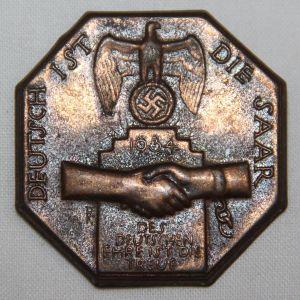 P092. GERMAN 1934 SAAR REUNIFICATION TINNIE