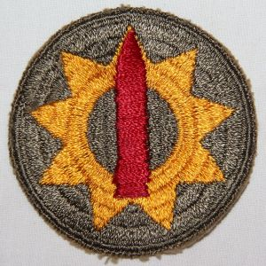 G140. WWII 9TH COAST ARTILLERY DISTRICT PACIFIC PATCH
