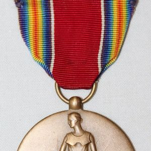 H072. WWII VICTORY MEDAL WITH RIBBON BAR