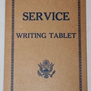 J060. WWII SOLDIER'S SERVICE WRITING TABLET