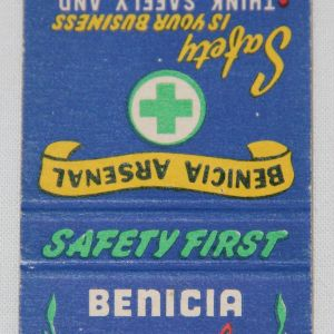 I059. WWII BENICIA ARSENAL MATCHBOOK COVER