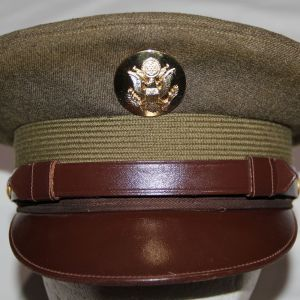 S091. NICE KOREAN WAR 1947 DATED US ARMY EM VISOR CAP