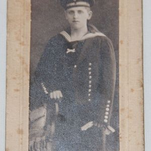 B202. WWI GERMAN NAVY TORPEDO DIVISION PHOTO CARD