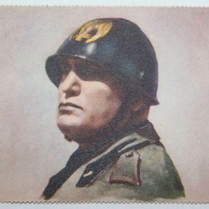 R078. WWII ITALIAN MUSSOLINI POSTCARD