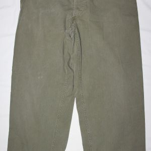 D091. WWII HBT FIELD TROUSERS MADE IN M43 TROUSER PATTERN