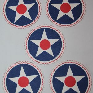 I070. LOT OF 5 WWII HOME FRONT AAF DRINK COASTERS