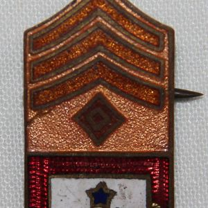 B207. WWI HOME FRONT FIRST SERGEANT SON IN SERVICE LAPEL PIN