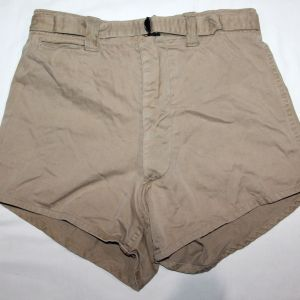 D086. WWII KHAKI COTTON ATHLETIC SHORTS