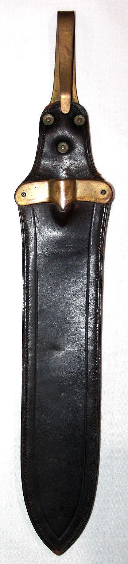 A051. NICE 1887 HOSPITAL CORPS KNIFE LEATHER SCABBARD