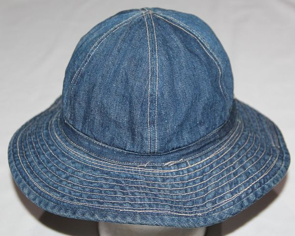 C075. PRE WWII BLUE DENIM DAISY MAE FATIGUE CAP