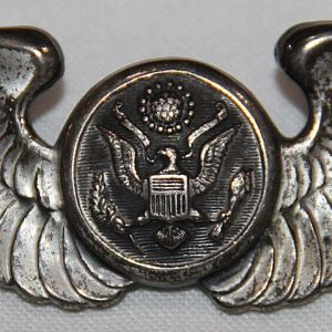 """H100. WWII AAF STERLING 3"""" AIRCREW WINGS"""