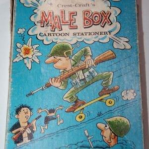 T230. VIETNAM CREST-CRAFT MALE BOX OF CARTOON STATIONERY