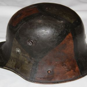B237. IRISH FREE STATE M27 GERMAN STYLE HELMET WITH ISSUES