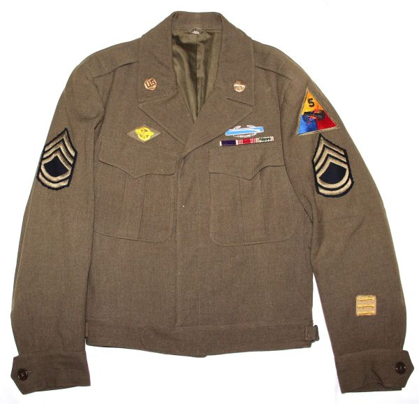 D092. WWII 5TH ARMORED DIVISION INFANTRY IKE JACKET UNIFORM