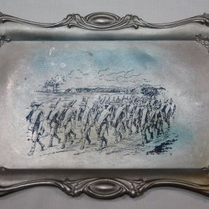 A056. SPANISH AMERICAN WAR HOME FRONT JEWELRY TRAY