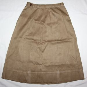 D093. WWII WOMENS WAC KHAKI COTTON SKIRT