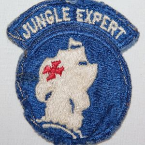 S132. KOREAN WAR - VIETNAM JUNGLE EXPERT GREENBACK PATCH
