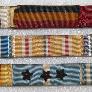 H124. WWII-KOREA 12 PLACE USMC RIBBON BAR GROUP, PURPLE HEART