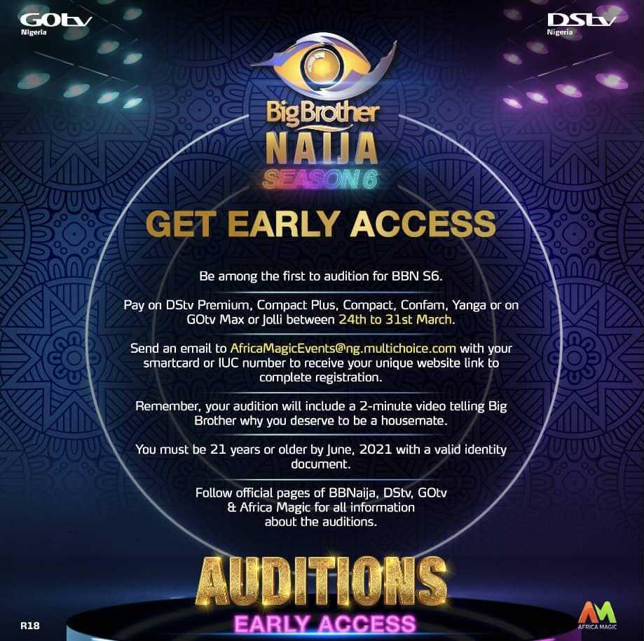 Big Brother Naija 2021 (Season 6) Application Form & Requirements