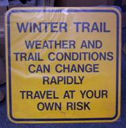 The signs on the trail