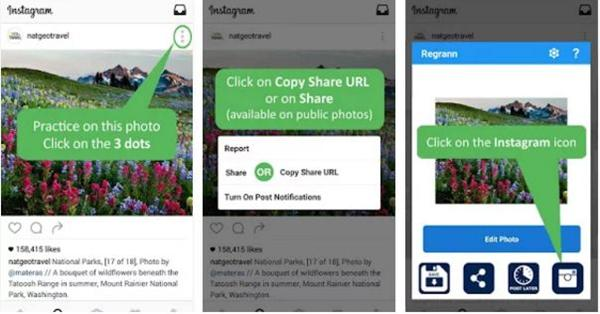 how to repost a video on instagram without app